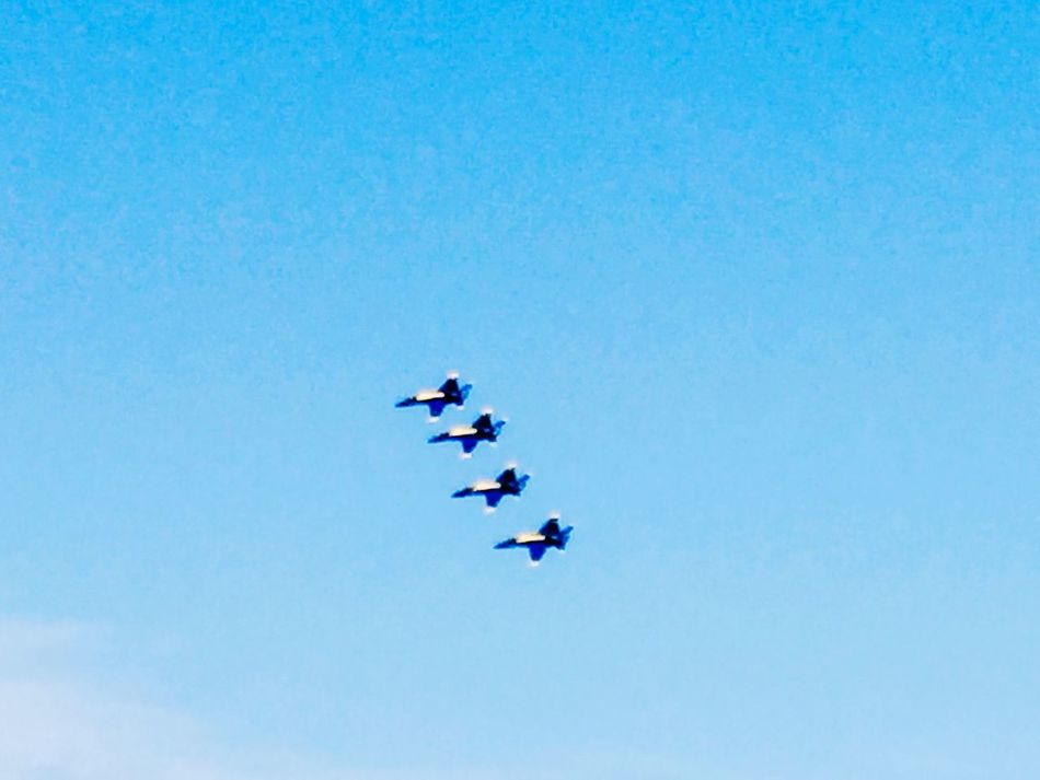 Come Fly With Me Copy Space Blue Clear Sky Low Angle View Flying Real People Speed Men Outdoors Day Air Vehicle Nature Fighter Plane Togetherness Sky