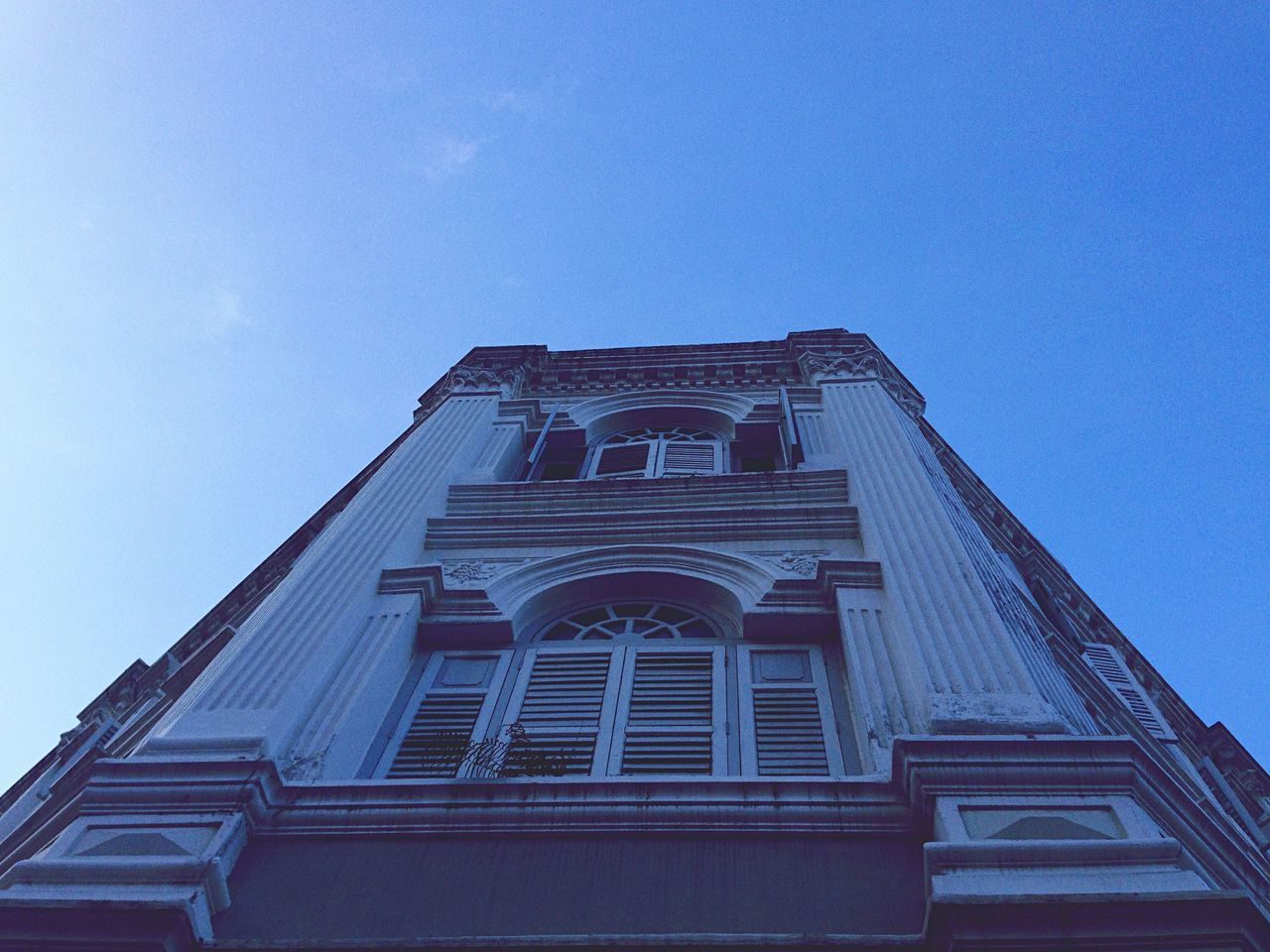 low angle view, architecture, built structure, building exterior, day, no people, outdoors, sky, clear sky