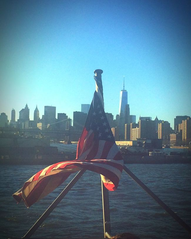 Freedom Tower Patriotism American Flag American Traveling New York City Perception Wanderlust Blue Sky Free Spirit New York Traveler Cityscapes City Skyline NYC