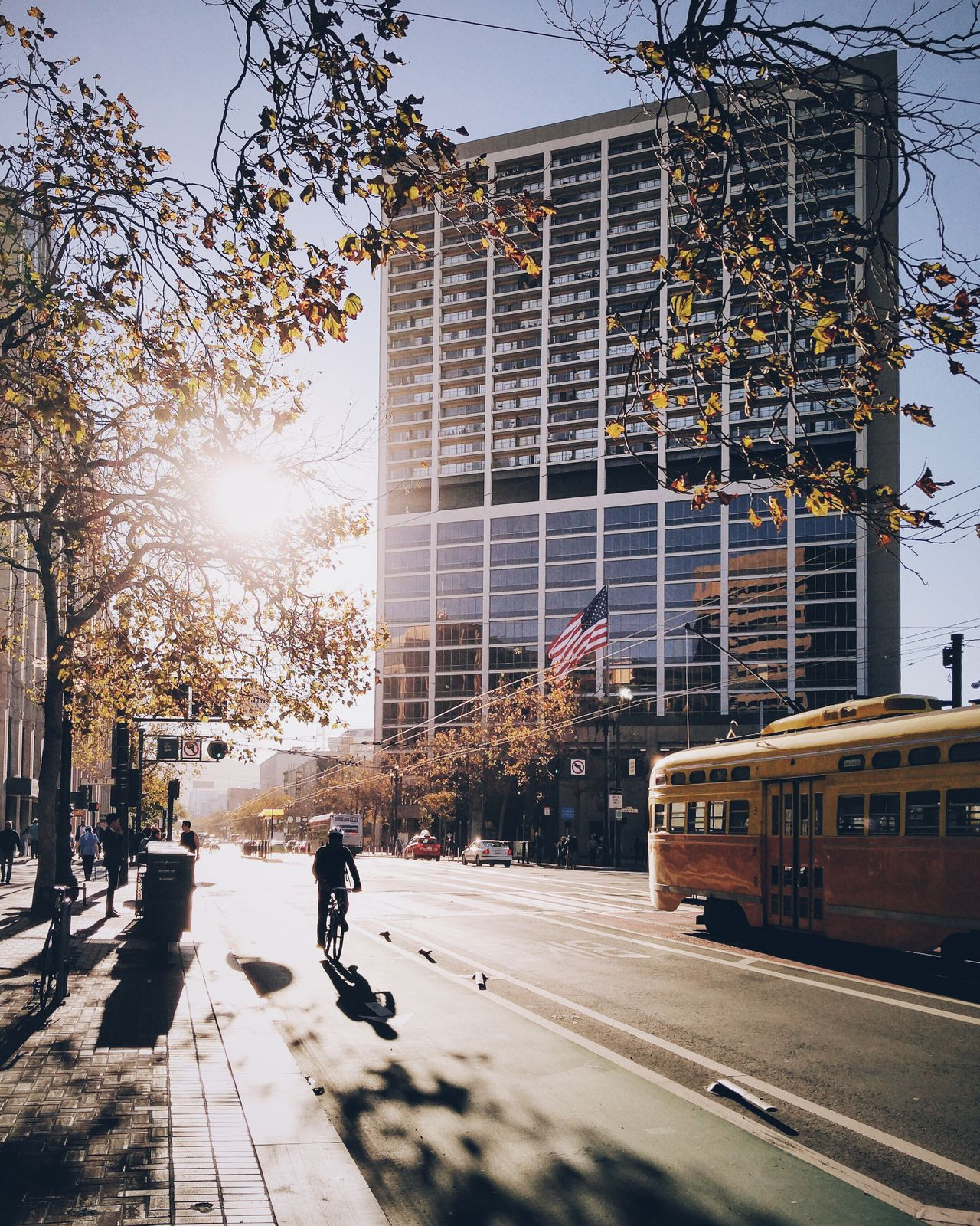Architecture Sunlight Built Structure Walking Transportation Day People Outdoors Building Exterior Men City Tree Real People Sky Adult Adults Only Only Men