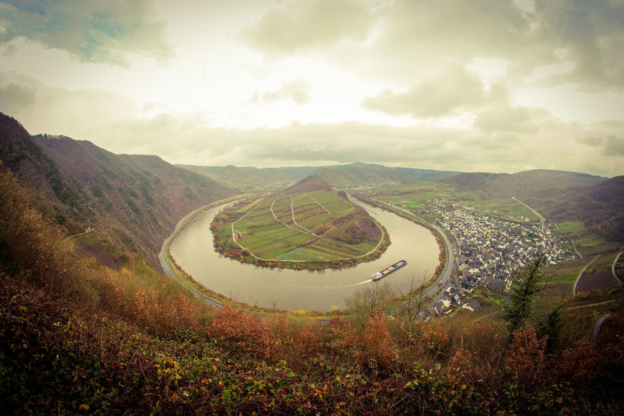 No People Mountain Landscape Agriculture Outdoors Nature Day Sky Mosel River In Germany Germany Moselschleife Mosel Food Beauty In Nature Nature Field Farm Agriculture Valley Vineyard Forest Hill Horticulture Plant Farmer