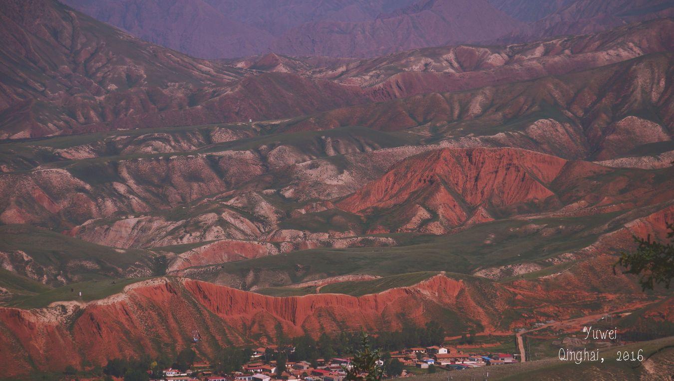 Danxia Dan-xia Landforms Qinghai Travel Travelling