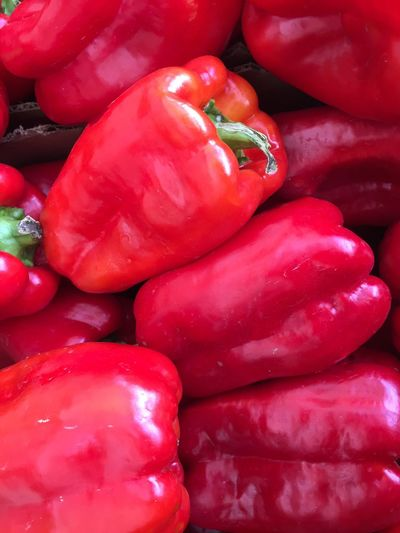 Farmer's market peppers Red pepper food