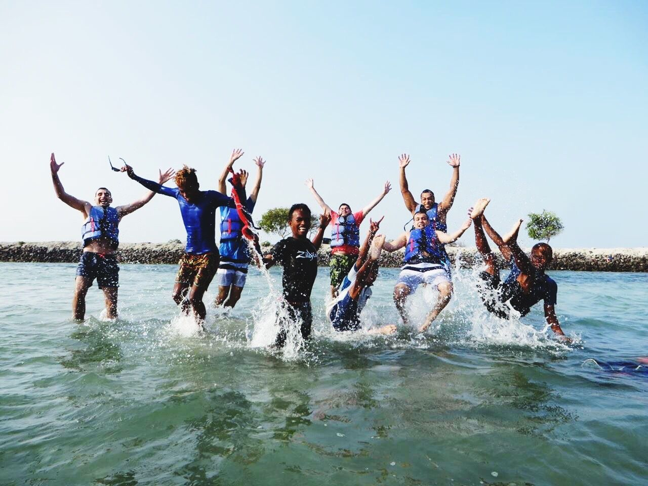 Friendship Fun Summer Togetherness Celebration Enjoyment Happiness Vacations Arms Raised Party - Social Event Limb Human Arm Cheerful Young Adult Human Limb Young Men Carefree Human Body Part Vitality Young Women