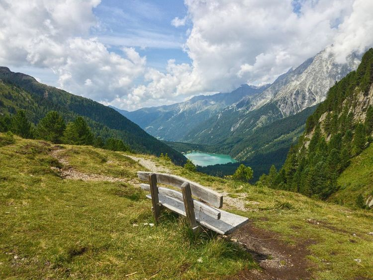 Mountain Mountain Range Scenics Landscape Nature Outdoors No People Cloud - Sky Summer Day Sky Tree Tranquility Beauty In Nature Rural Scene Grass Altoadige Südtirol Italy❤️