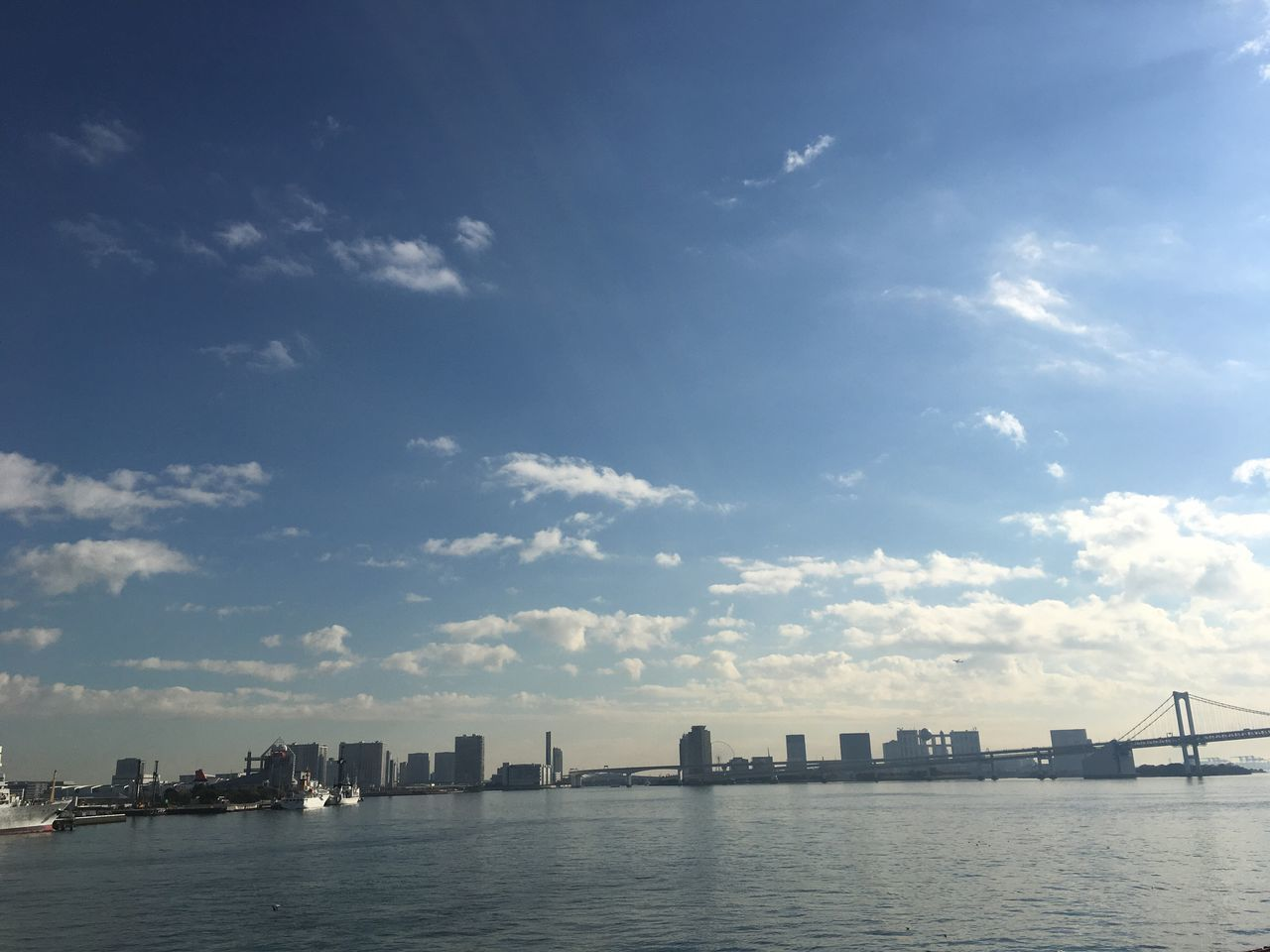 Tokyo Bay Rainbow Bridge Shining Sea And Sky Finding New Frontiers