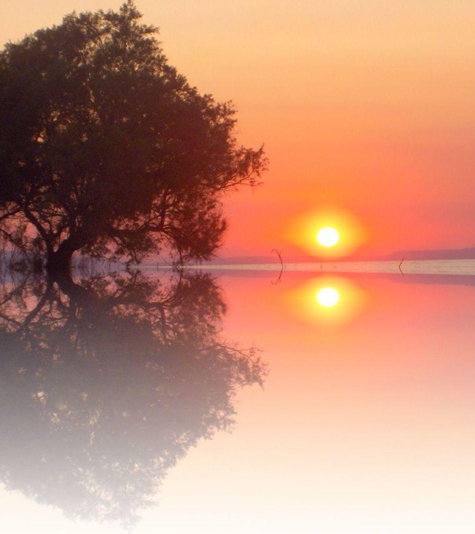Sunset in Crete Silhouette