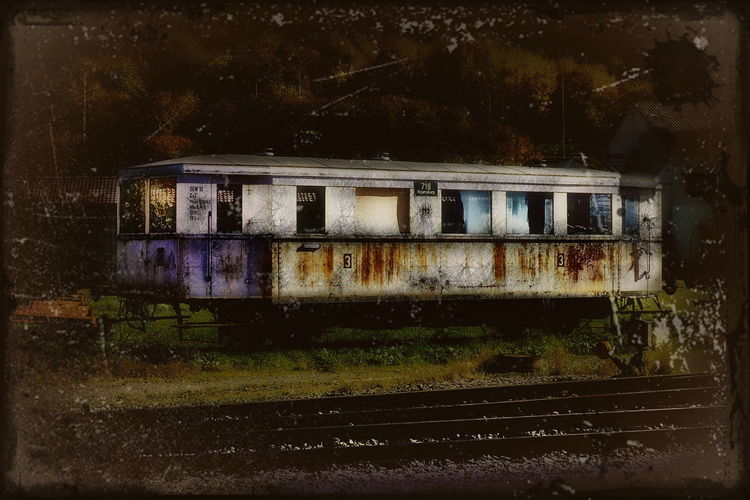 Happy All saints' Day for my friends Lost In Place Abandoned Architecture Beauty In Nature Day No People Outdoors Rusty Train