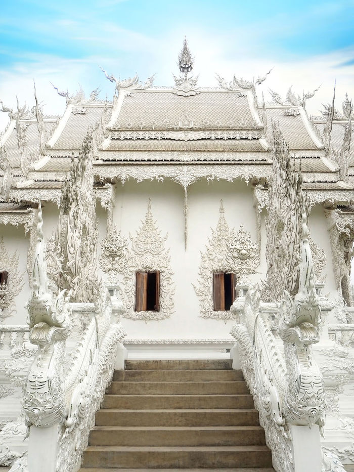 💙White day💙 Ancient Civilization Wat Rong Khun Art And Craft Spotted In Thailand Built Structure Creativity Culture Day My Favorite Photo Exceptional Photographs Historic History How Do We Build The World? No People Old Ornate Showcase March Spirituality Tadaa Community The Great Outdoors - 2016 EyeEm Awards The Architect - 2016 EyeEm Awards Thailand The Great Outdoors With Adobe Wall - Building Feature White