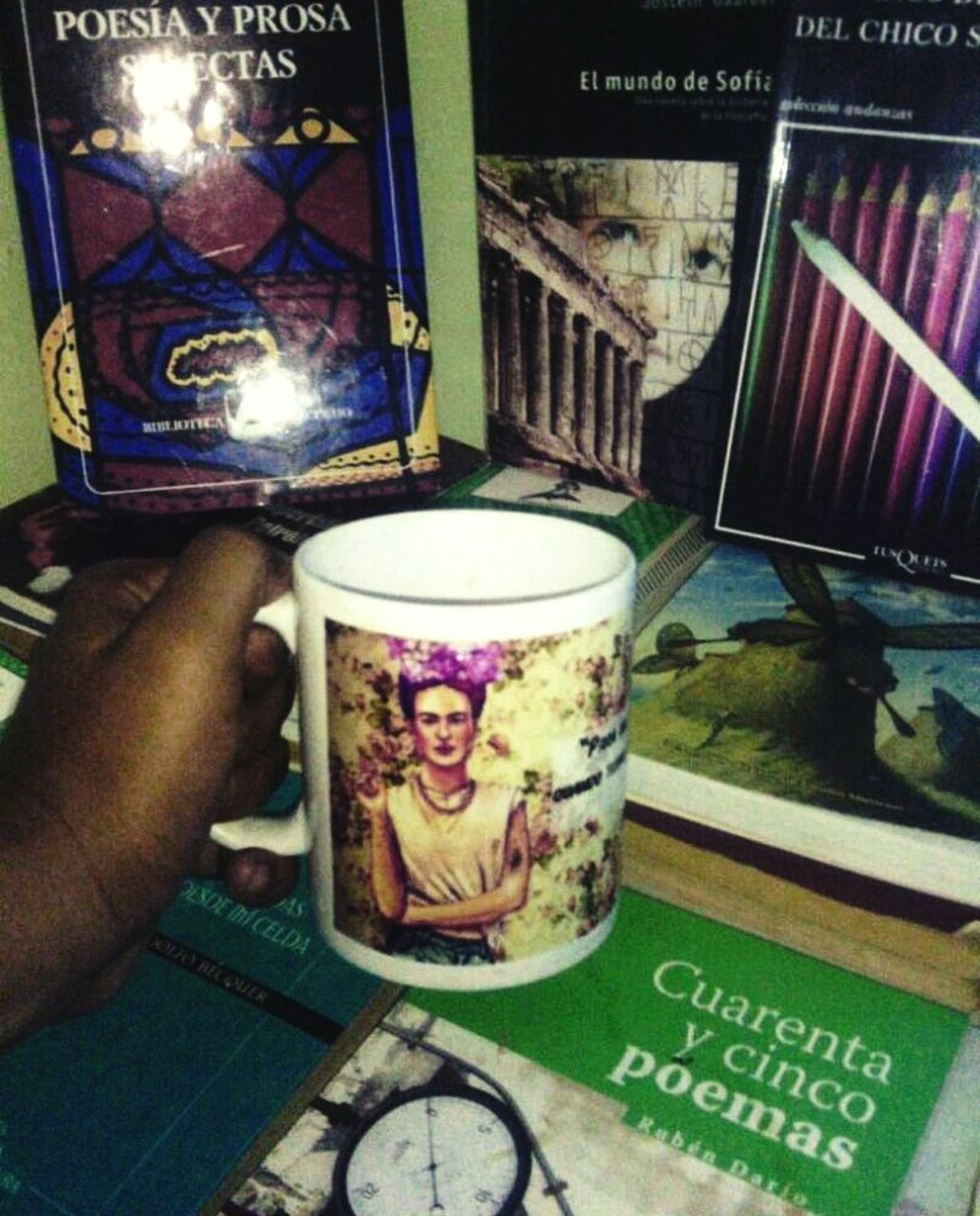 Drink Text Frida Kahlo Coffee ☕ Photography un pequeño cafe con mi frida. 😉😘