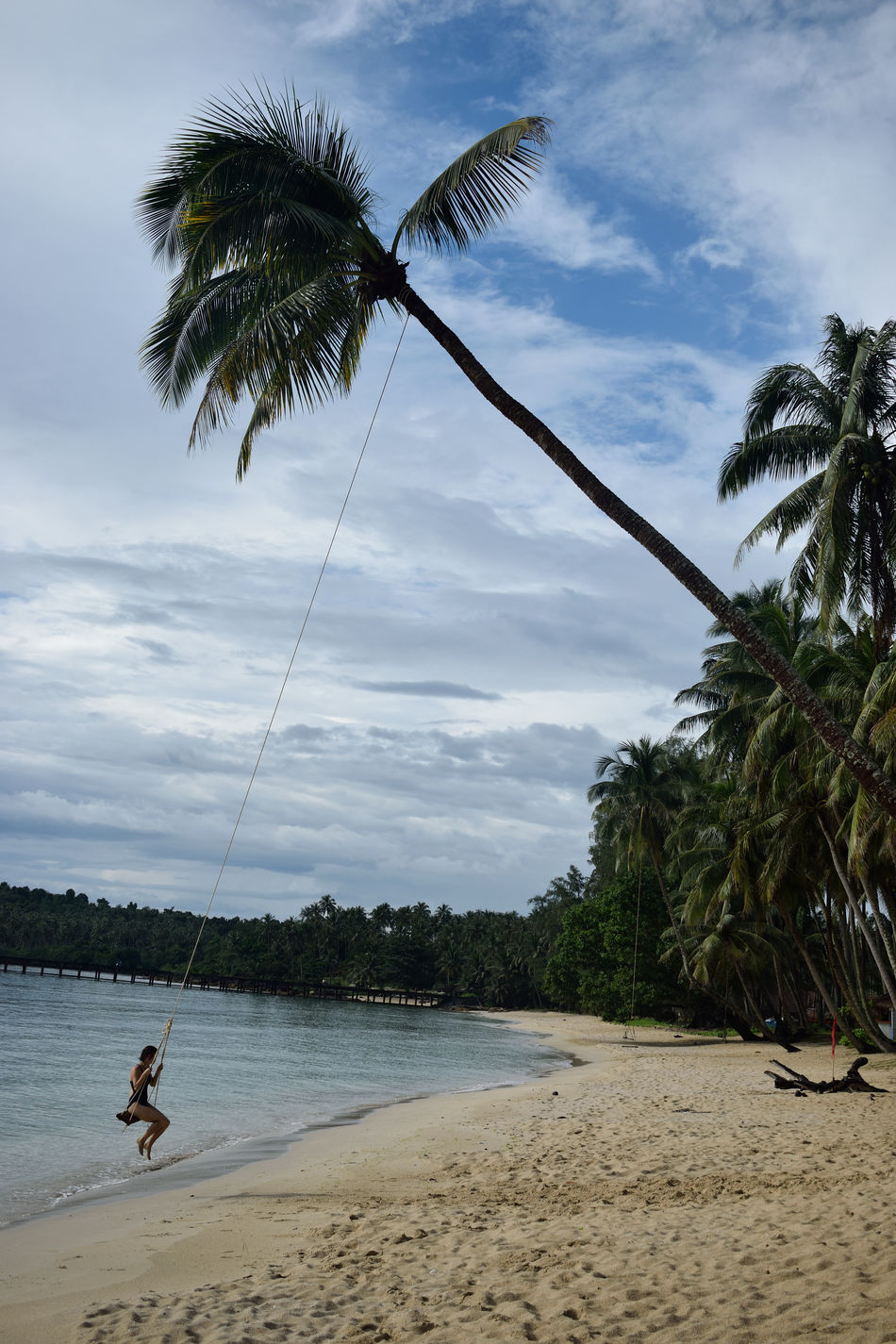 Beach Beauty In Nature Cloud - Sky Day Horizon Over Water Nature One Person Outdoors Palm Tree People Scenics Sea Sky Swing Tranquil Scene Tree Water Thailand Amazing Thailand Swing Swing Swing Koh Kood Travel Photography Wanderlust Backpacking My Year My View Miles Away