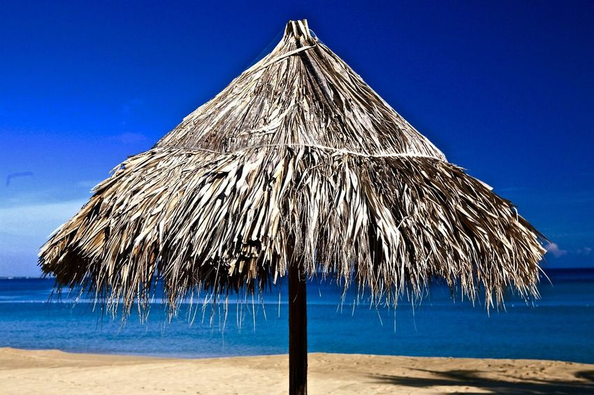 Jamaican palapa. Holiday Outdoors Parasol Sunshade Thatched Roof Tropical Tropical Climate Wood - Material