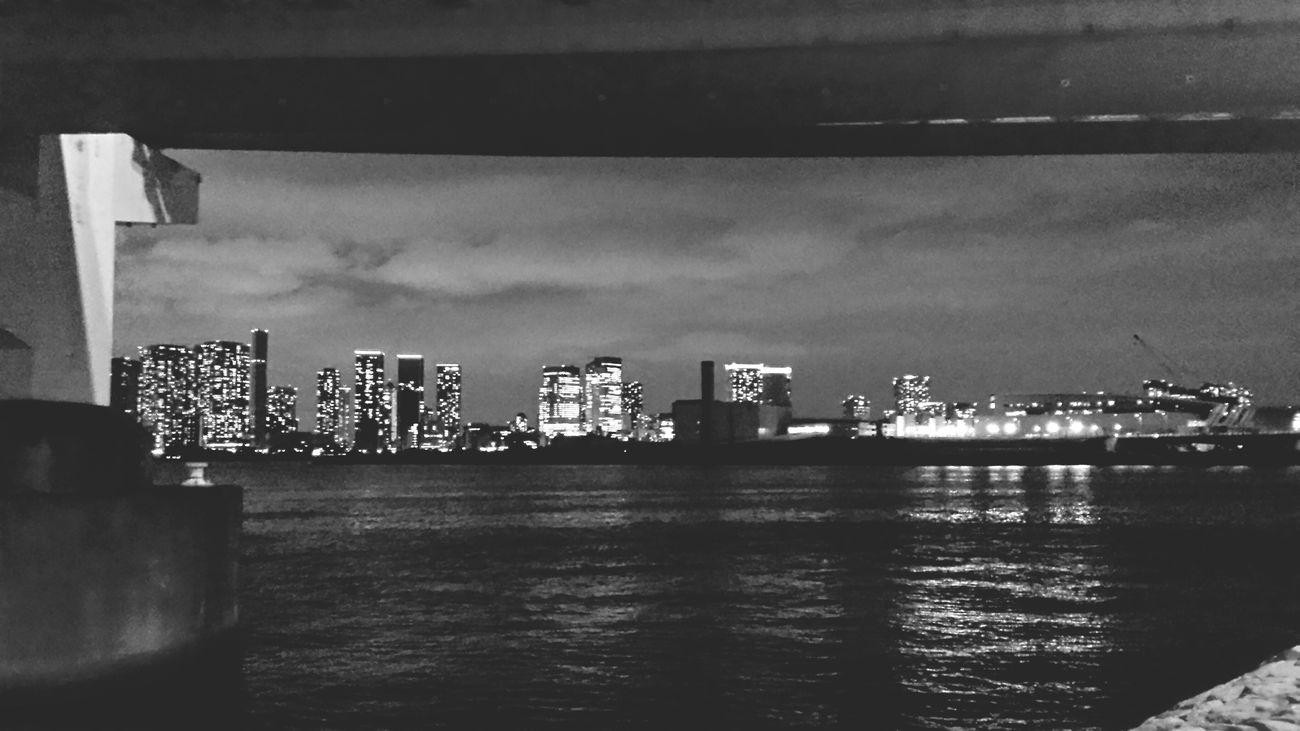 Tokyo Bay , Night View In Odaiba , Japan