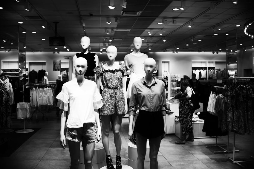 Boutique Clothing Clothing Store Day Fashion Female Likeness Human Representation Indoors  Mannequin No People Retail  Store The Street Photographer - 2017 EyeEm Awards