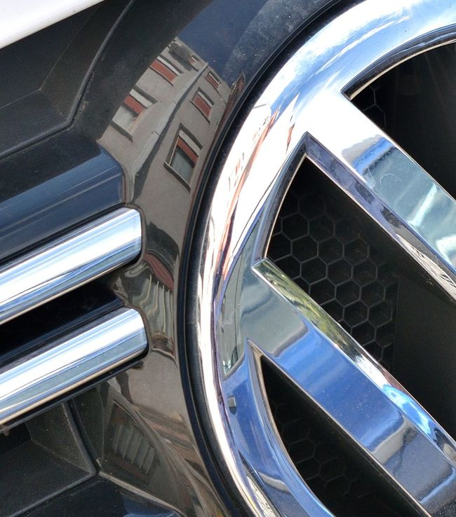 Chrome Reflection of a Three-storey Building Building Car Brands Chrome Compositions Reflection
