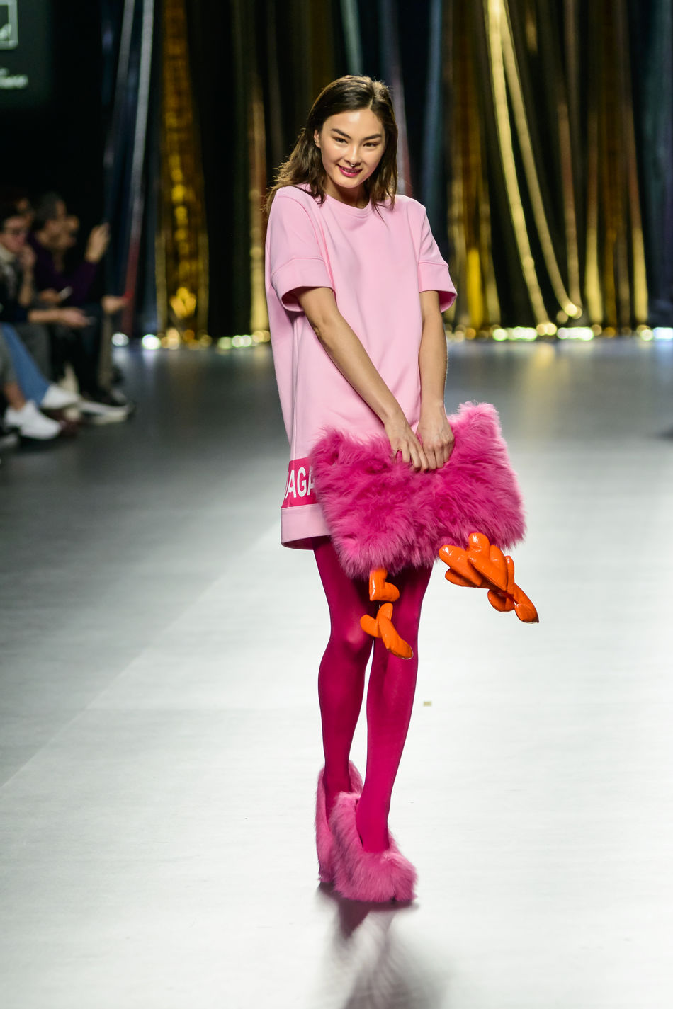 Agatha Ruiz De La Prada - Merecedes Benz Fashion Week Madrid 2016 - Autumn-Winter 2016-2017. Casual Clothing Catwalk Clothes Editorial  Fashion Fashion Show Fashion Week Front View Fun Happiness Lifestyles Looking At Camera Mbfw Mbfw2016 Mercedes Benz Fashion Week Models Portrait Real People Standing Woman Women Young Adult Young Women