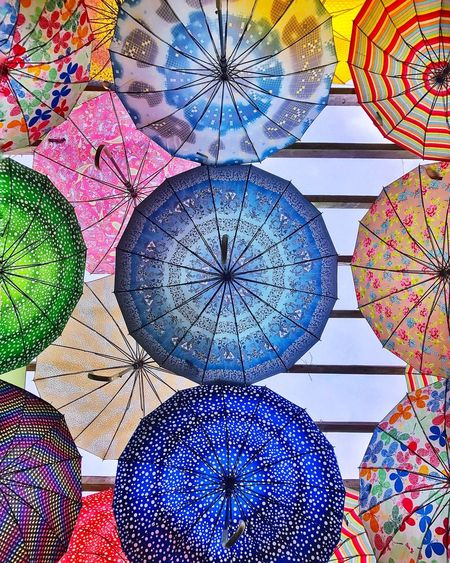 Multi Colored Pattern Indoors  Low Angle View Day No People Close-up Umbrellas Art Interior Interior Design Jaysalvarez Photography Colorburst