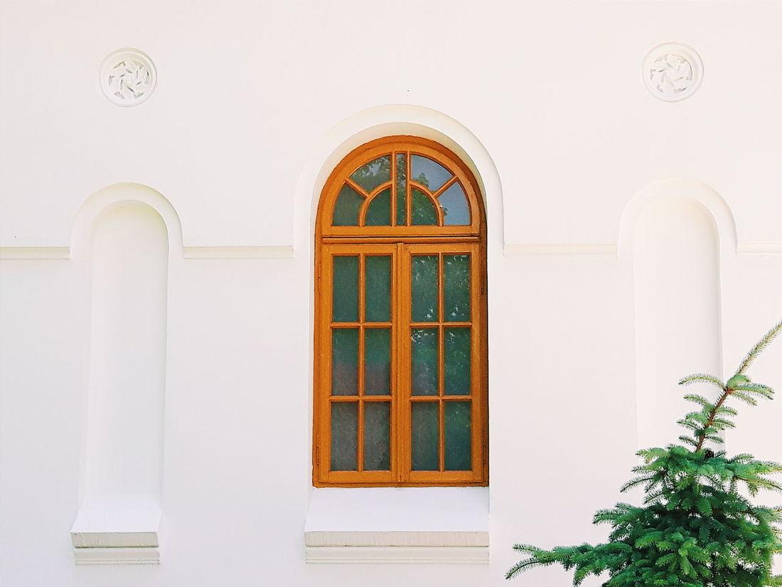 Window Minimalism Church Braila White Pattern