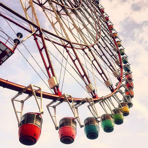 Sky Colour Splash Amusement Park Tokyo Japan Sky Panoramic Wheel Low Angle View No People First Eyeem Photo