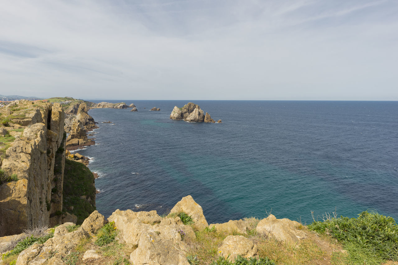 Arnia Arniabeach Beauty In Nature Blue Cantabria Cliff Coast Day Horizon Over Water Landscape Nature Nature No People Ocean Outdoors Rock - Object Rock Formation Scenics Sea Sky SPAIN Tranquil Scene Tranquility Water