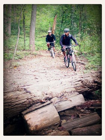 Enjoying the trails. Mountain Biking