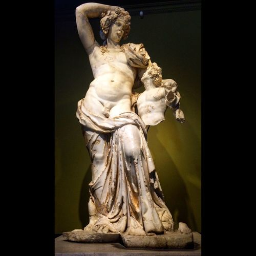 Dionysos And Satyr from Ancient Greek Dionysus Dionysos Ancient Greek Mithology Museum Asperger Traveling Burdur History