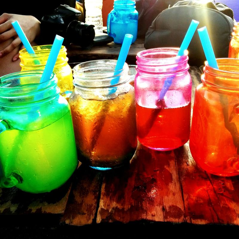 Beach Life Hanging Out Drinks Colourful Refreshment Enjoying Life Sunsets