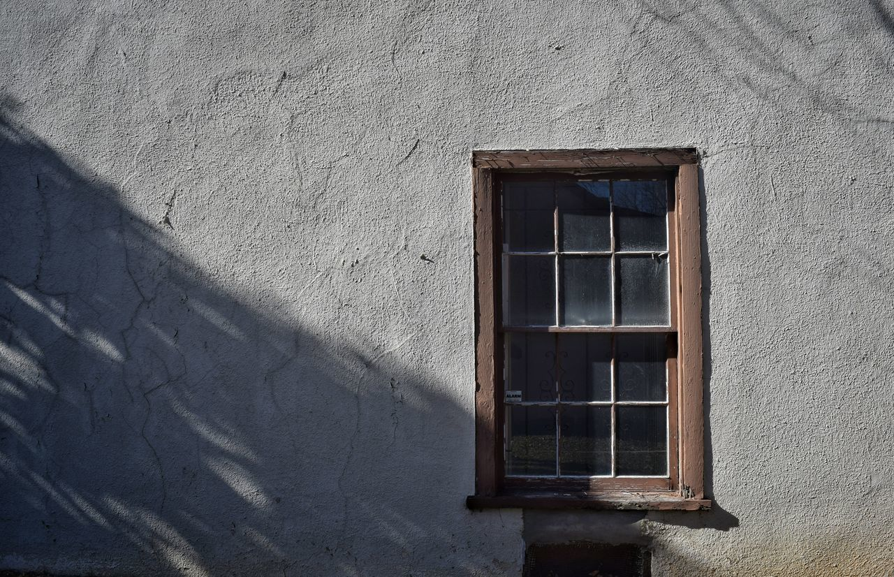 Closed Glass Window Of House
