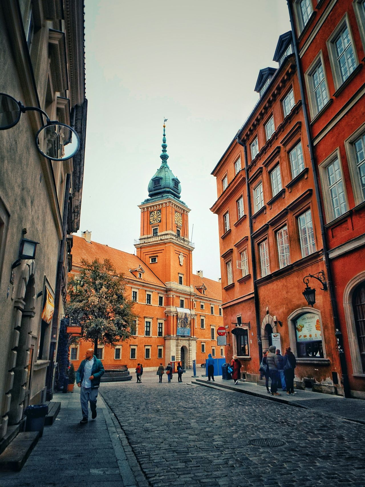 City Architecture Travel Destinations Travel Building Exterior Built Structure Tourism Castle Zamek Królewski Stare Miasto Warszawa  Warsaw Old Buildings Historical Building Historical Monuments Monument Street Photography Clock Tower Cityscape Sky Outdoors Clock Tower People Day
