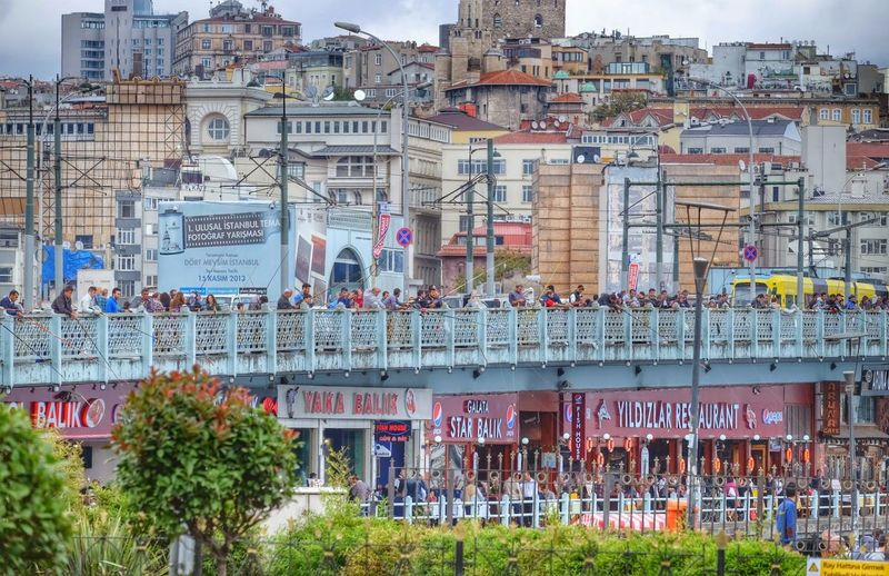 Galata bridge in weekend. TheWeekOnEyeEM EyeEm Best Shots The Traveler - 2015 EyeEm Awards The Street Photographer - 2015 EyeEm Awards Istanbul The Moment - 2015 EyeEm Awards The EyeEm Facebook Cover Challenge Cityscapes The Tourist The Changing City Here Belongs To Me Color Of Life Crowded People And Places