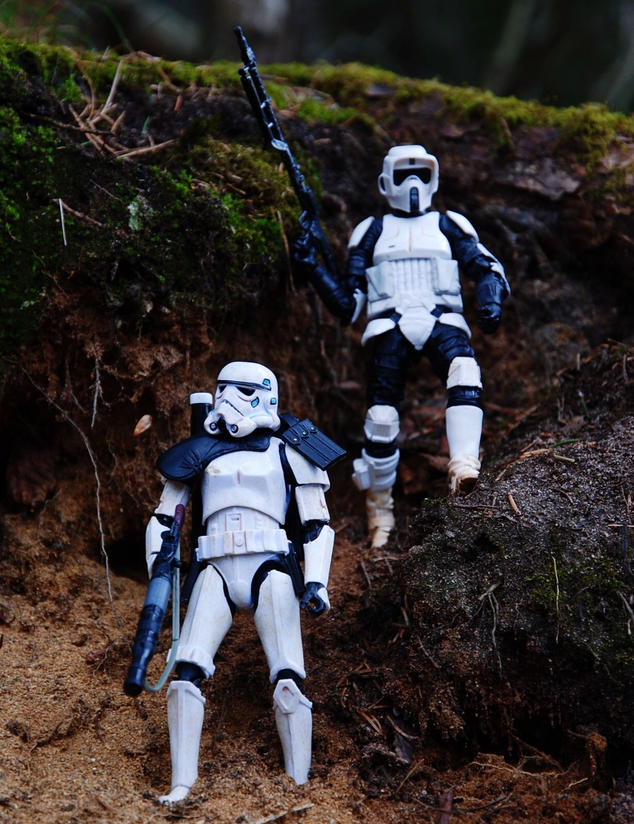 Another shot from my photo session today Blackseries Theblackseries Starwarsblackseries Hasbro Starwars Sandtrooper Scouttrooper