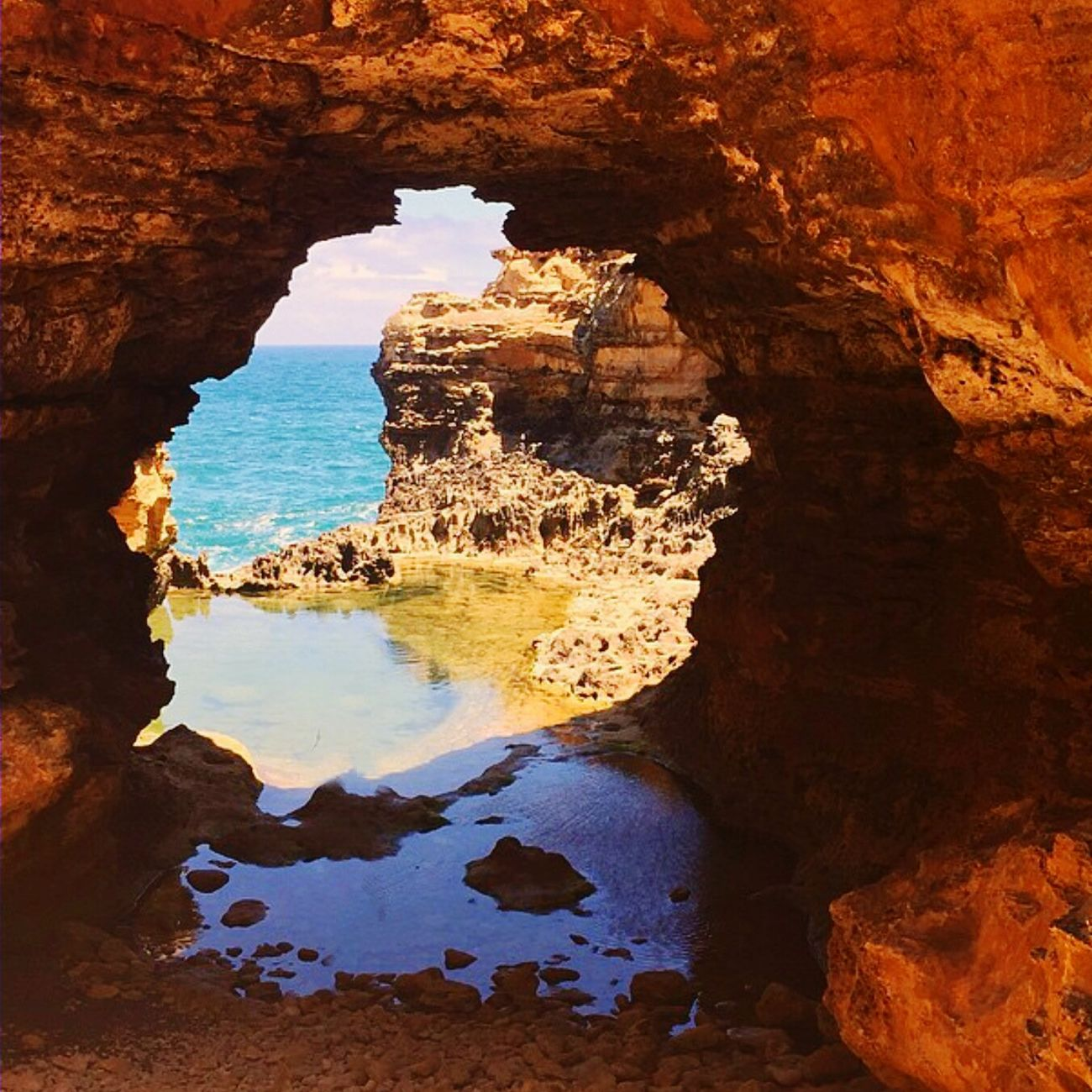 EyeEm Exploring Eye Em Nature Lover Beautiful Nature Beautiful View Bestoftheday Beachphotography Beach Cave EyeEm Best Edits Nature's Secret Spot a door way to the other side!!!!!