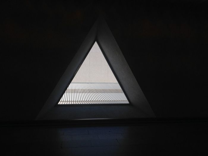 Airport Architecture Built Structure Close-up Day Geometry Indoors  No People Pyramid Triangle Shape Window
