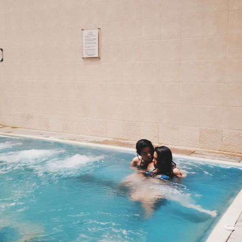 Swimming Pool Relaxation Water Carefree Day Blue Fun Washing Outdoors Summer City Life Turquoise Two Is Better Than One Togetherness Girls Women Love Couple Jacuzzi  Spa