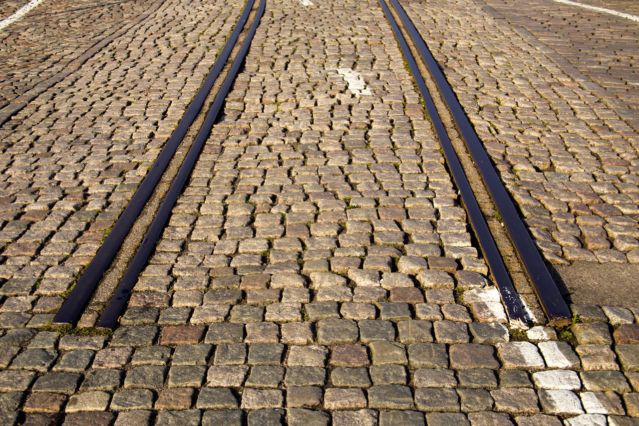 Road to nowhere Cobblestone Cobblestone Pavement Cobblestone Streets Day End Of The Road Outdoors Rails Railsway Road To Nowhere Way