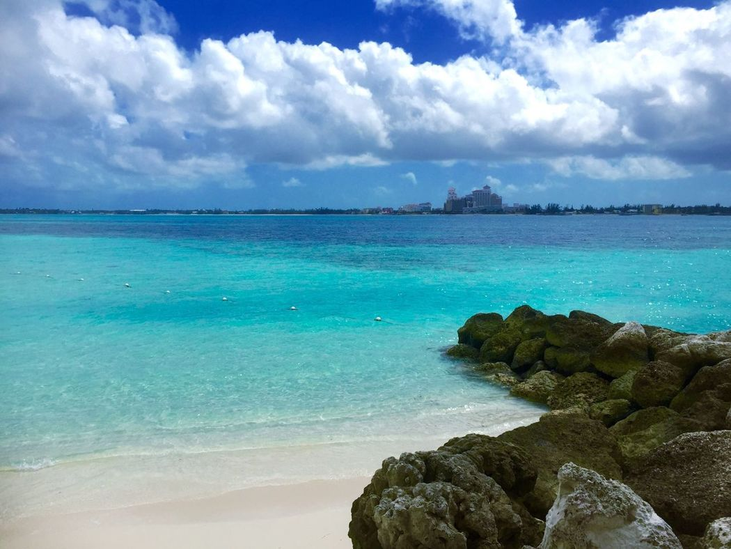 Beautiful view from our private island in the Bahamas Bahamas Vacation Stingray Island Cruise Ship Ocean