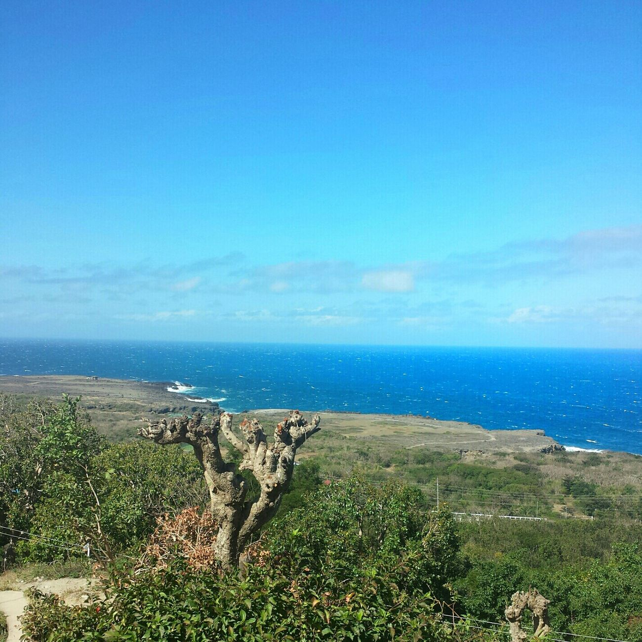Cape Bojeador from the Lighthouse || Sea And Sky Blue Sky Pilipinas