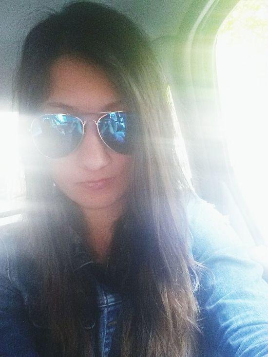Smile Longhair Sun Taking Photos Happy That's Me Hi! Sunglasses Blueglasses