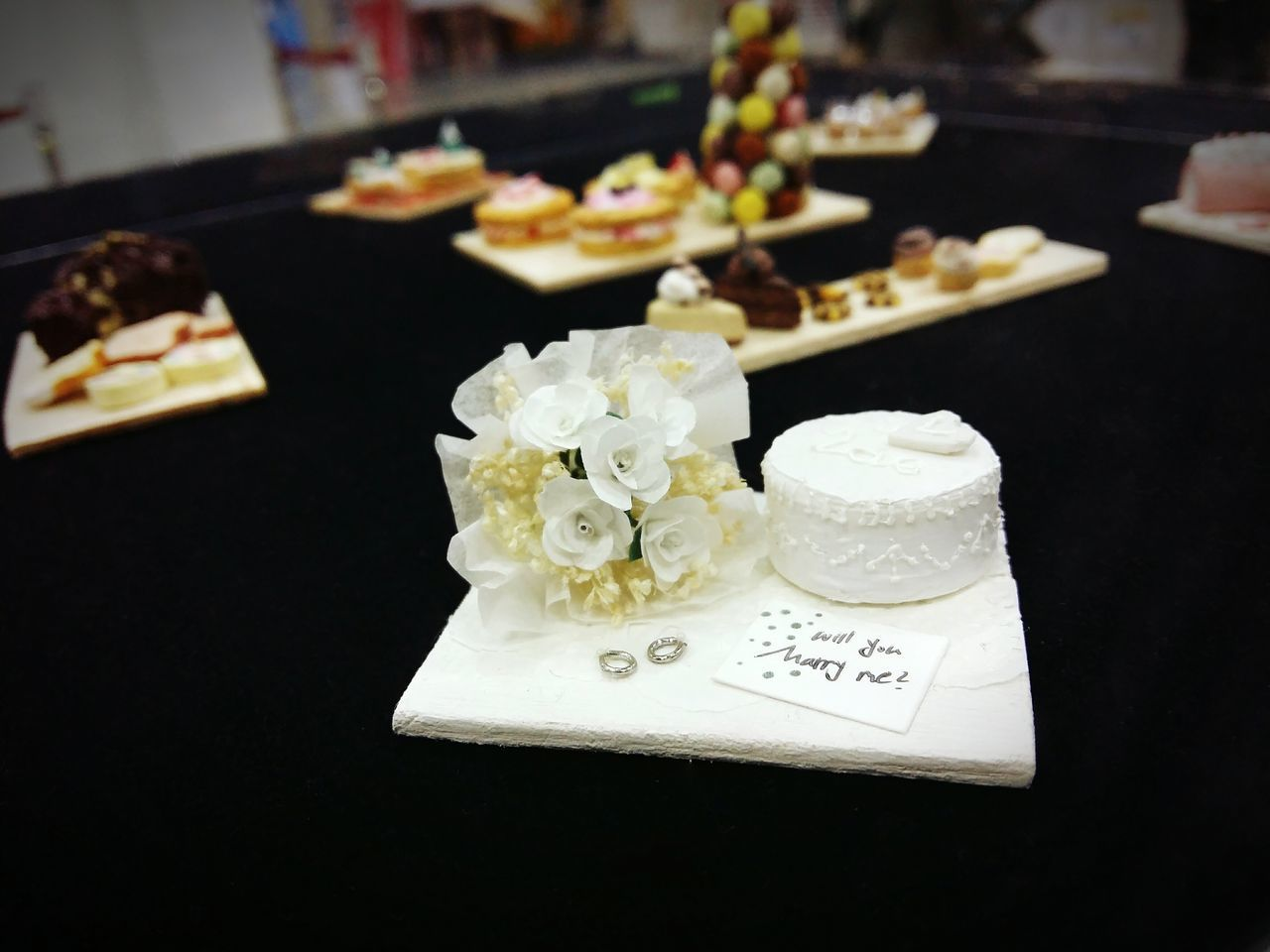 미니어처 미니어쳐 케익 스위트코리아 Miniature Cake Will You Marry Me? Cute Small Things Small_world White Sweet Korea KINTEX Gallery