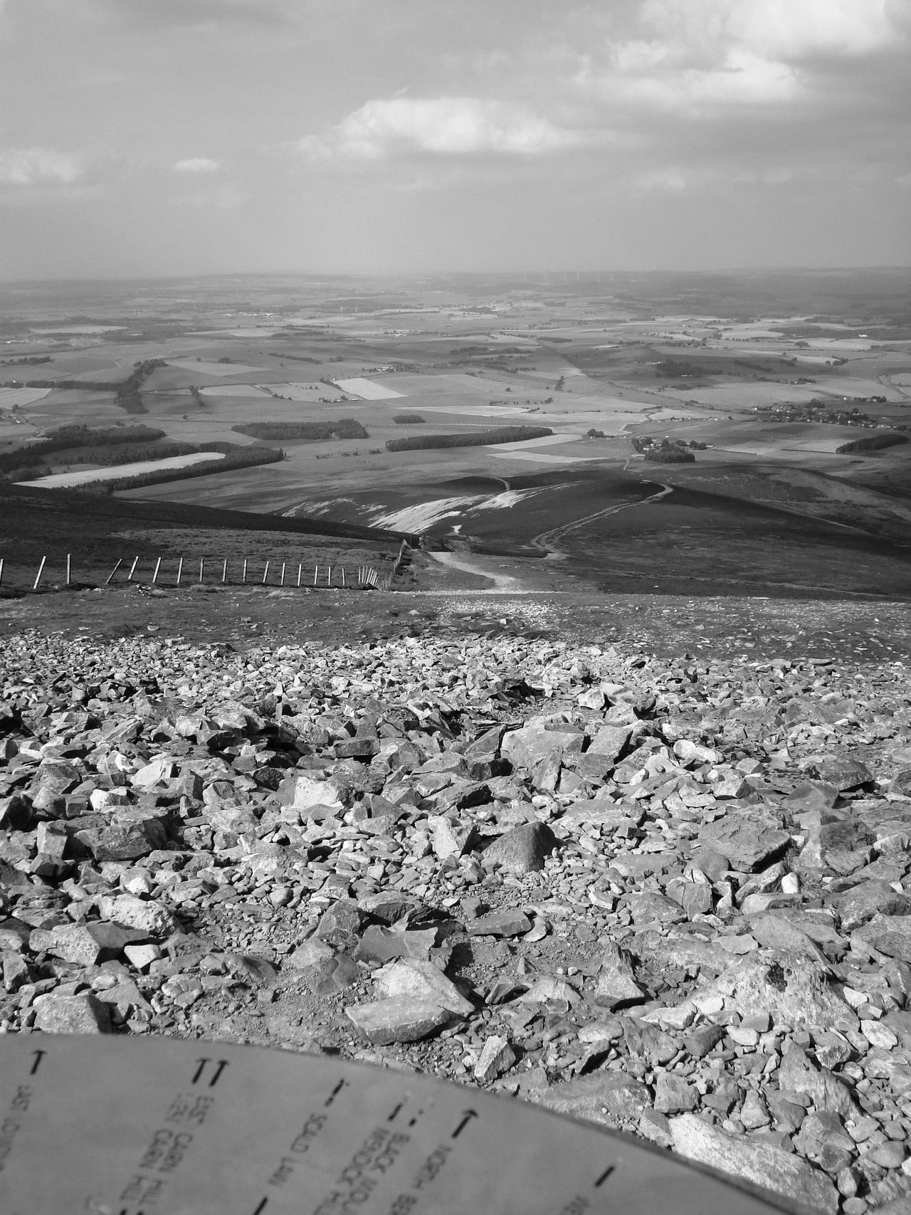 Beauty In Nature Black And White Photography Day Hilltop Landscape Nature No People Outdoors Paths Scenics Sky Tinto Hill Tranquil Scene Tranquility