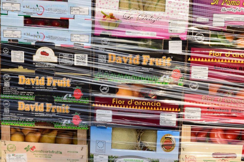 Full Frame No People Colors Signs Milano Market Shiny Plastic Cartone