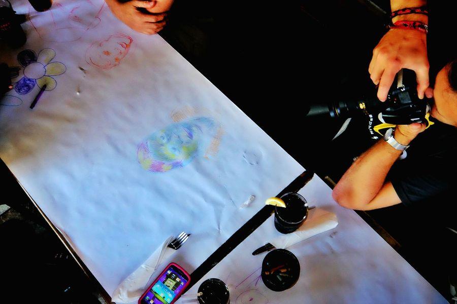 Everyone is an artist. EyeEm Festival 15 Meetup NY Crayons Having Fun Lunchtime Photowalk EyeEm In NYC 2015 Messthetics