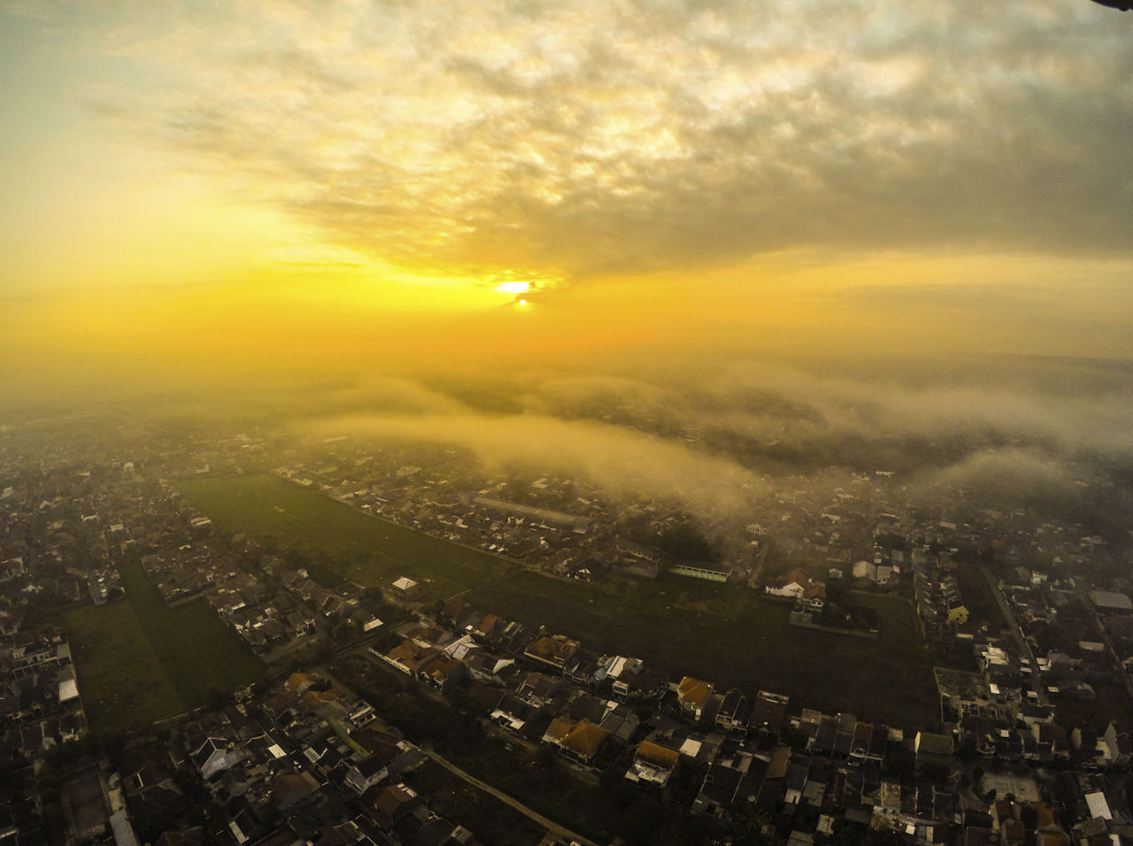 Beautiful sunset from Kebonsari - Malang Aerial View Architecture Building Exterior Built Structure City Cityscape Cloud - Sky Crowded Illuminated Night Outdoors Residential Building Sky Skyscraper