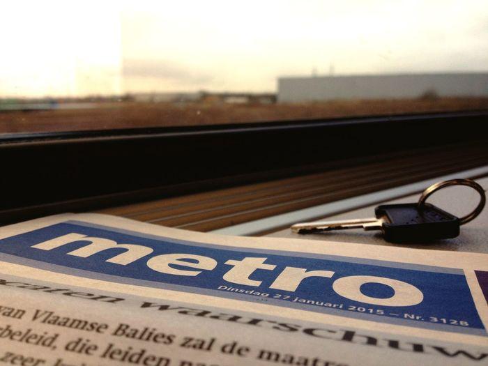 Taking the train home ? Sick Train Newspaper Key View Window