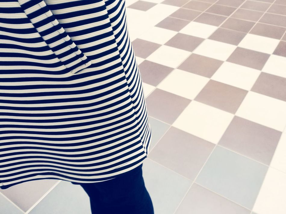 Pattern Striped White Color Backgrounds Indoors  No People Close-up Day Fashion Today's Hot Look Volkshochschule Hannover HuaweiP9 People Clothes Coat Mosaic Woman Adult One Woman Only Women Only Women Welcome To Black