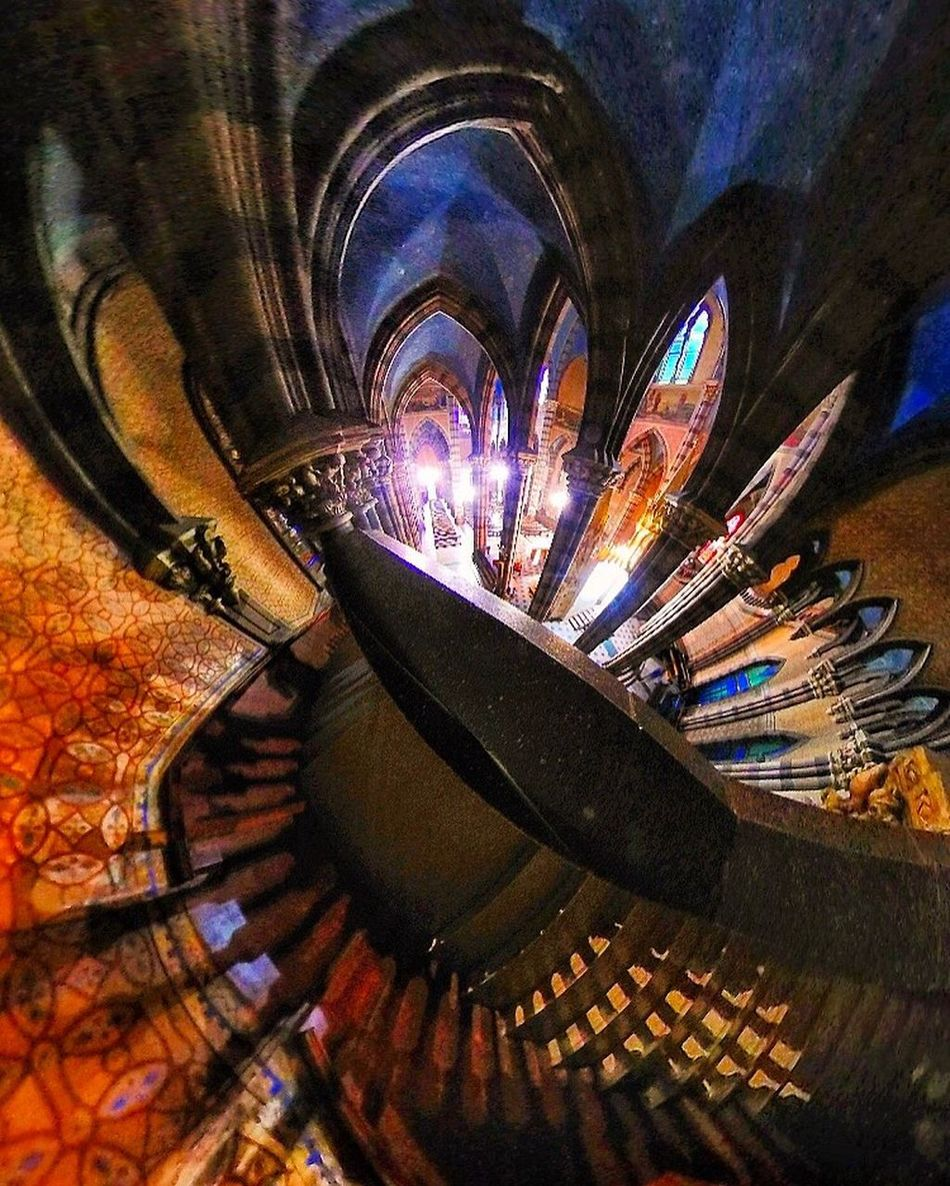 Church. Church Architecture Indoors  Illuminated Burning Close-up Spiral Flame Architecture Night No People Staircase Advertisement