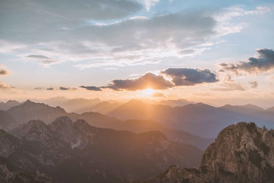 Beauty In Nature Cloud - Sky Day Landscape Mountain Mountain Range Nature No People Outdoors Scenics Sky Sunlight Sunset