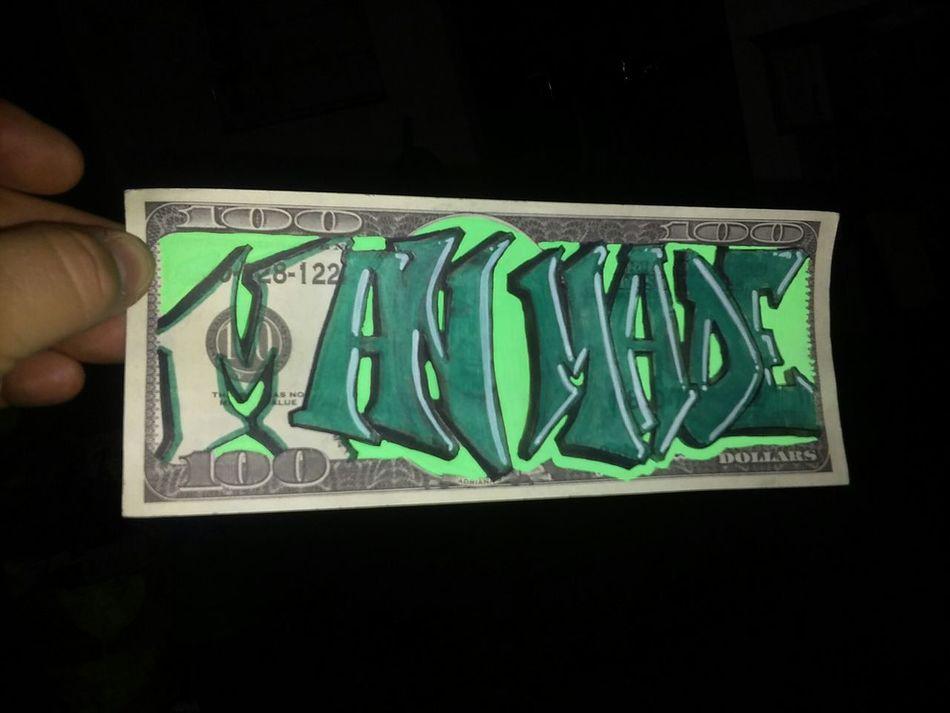 Man made. Hello World Graffiti Art Typography Notes From The Underground Long Beach California Type Lettering Graffiti Art Mecks1 Artsy Graffitiporn Art, Drawing, Creativity Graffiti Writers 100 Dollars $100 Green Doodles Feria