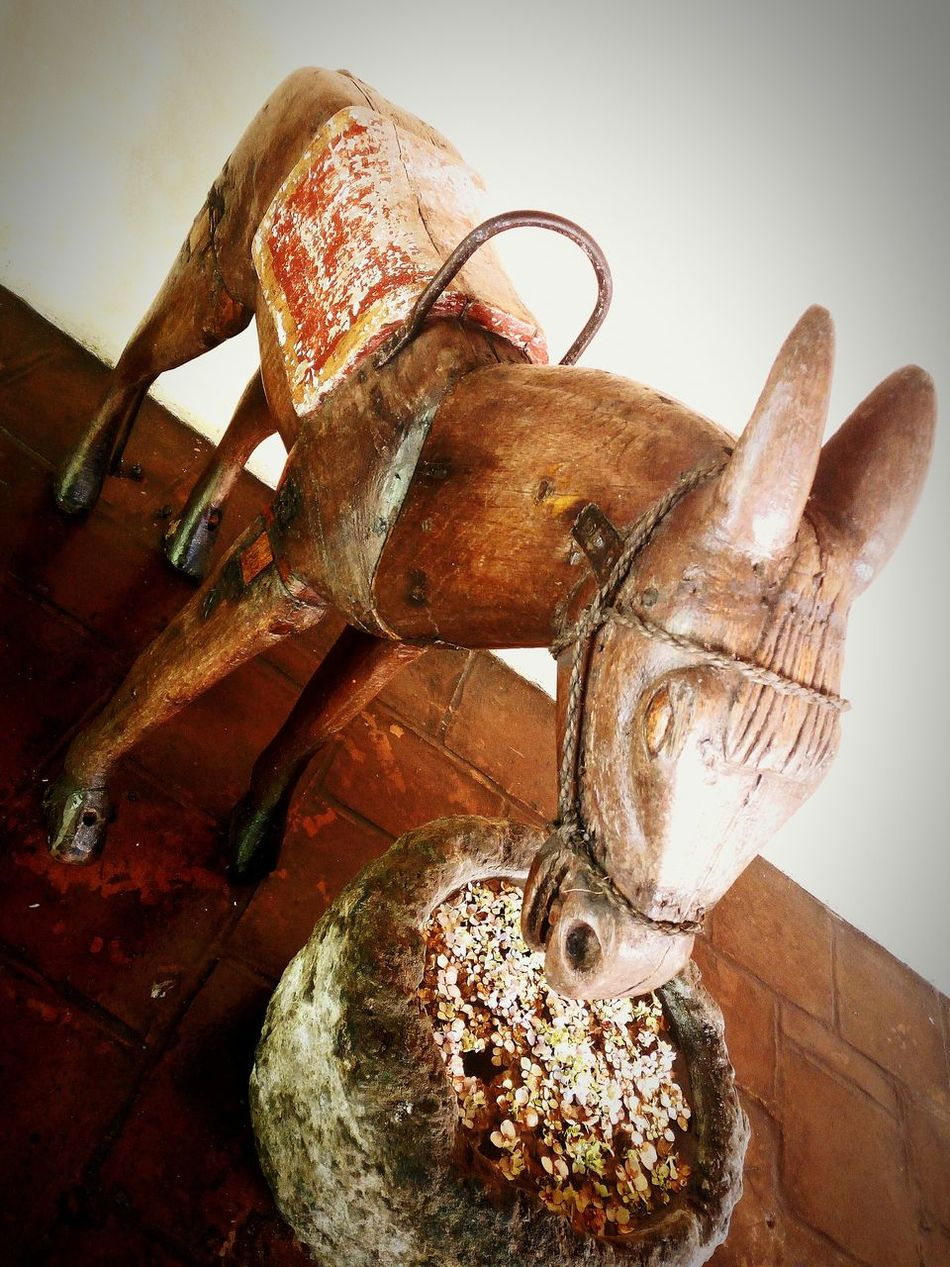 AntiguaGuatemala! ❤ Casa Santo Domingo Wooden Mule
