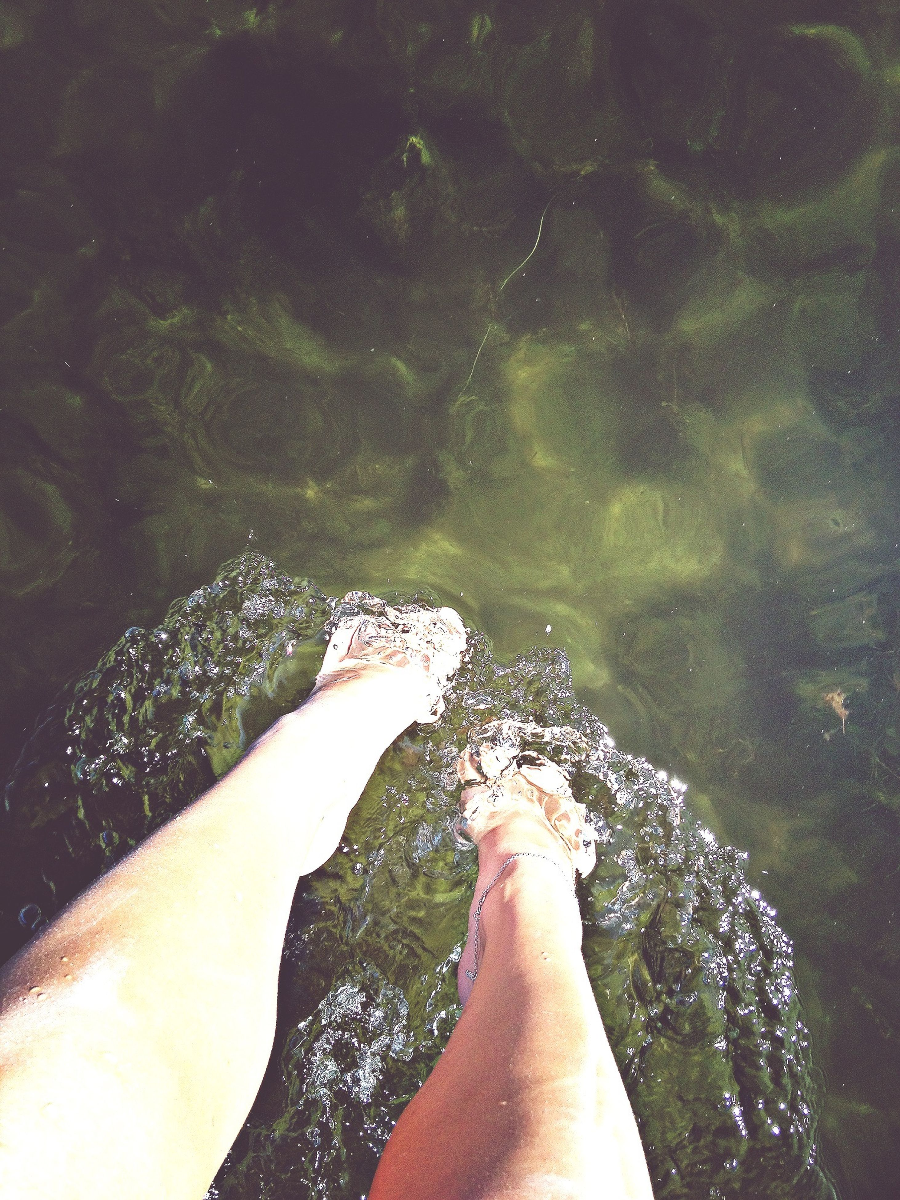 low section, person, water, personal perspective, barefoot, human foot, lifestyles, leisure activity, high angle view, part of, sea, relaxation, unrecognizable person, beach, nature, men